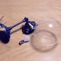 ガラスシェード 気泡 照明