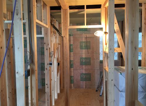 洗面室 自然素材の家