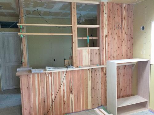 新築 自然素材 キッチン