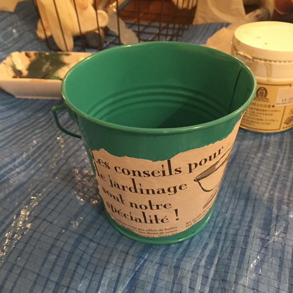 リメ缶 鉢
