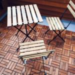 イケアのフロアデッキ 椅子 テーブル 屋外用